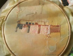 Experiment in stitching the dig house