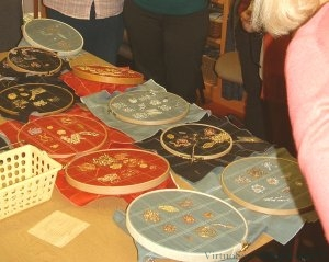 Show of work at the Goldwork Course