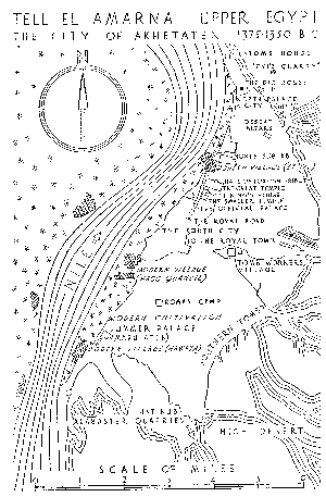 Map of the dig site at el-Amarna