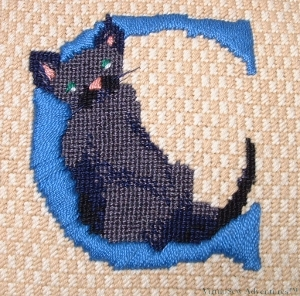 C is for Cat Cushion Panel