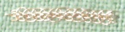 Reverse Chain With Buttonhole Edging