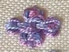 Cross Shaped Guilloche Stitch
