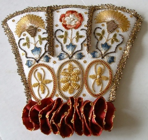 The Cuff of the Floral Glove Needlecase