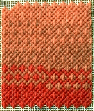 Stitching showing colour changes