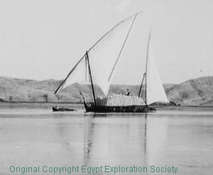Sailing Felucca from an Egypt Exploration Society photograph