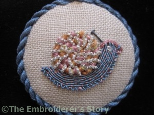 Stitch a Snail for Storage Needlework Nibble