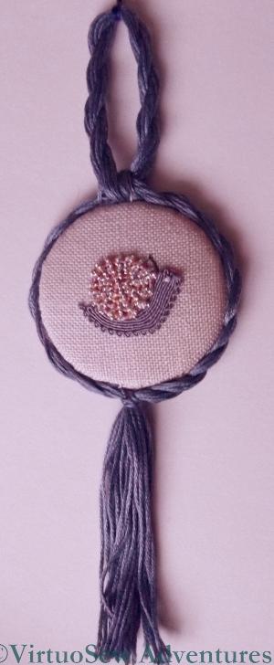 Glittering Snail Ornament