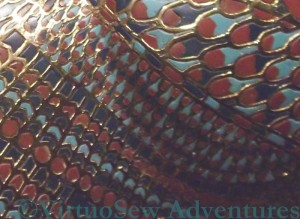 Cloisonne Feather Pattern on the Sarcophagus