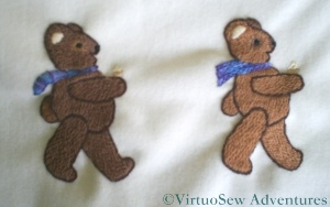 Two Teddies in Procession