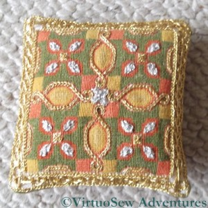 Finished Tudor Pincushion