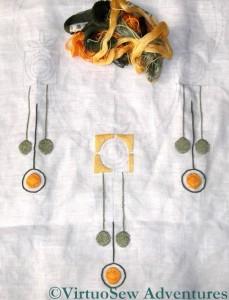 Finnish Embroidery - Progress