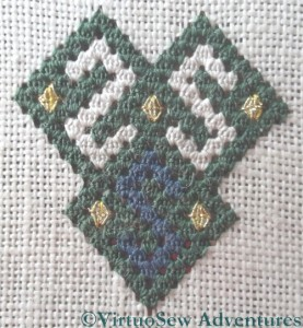 Gold Queen Stitches Added