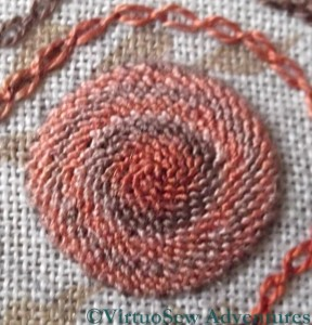 Close Up - Spiral Trellis Stitch