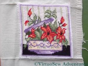 Tent Stitch Flowers