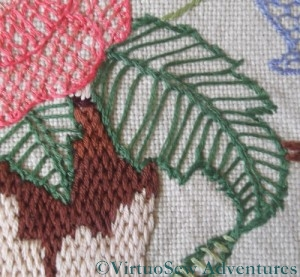 Blanket Stitch Leaf