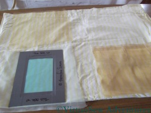 Preparing my screen printing tests