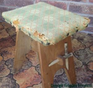 Moth Eaten Footstool