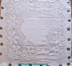 Azorean Cutwork Progress