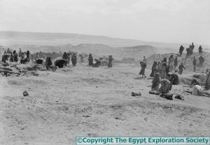Scene At The Dig Copyright The Egypt Exploration Society