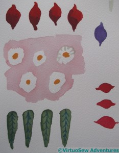 More Watercolours of the Faience shapes