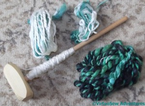 Drop Spindle And Yarns
