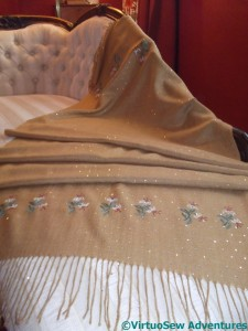 The Small Motifs end of the pashmina