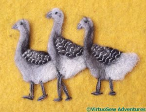 Detail Added To The Geese