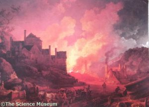 """Coalbrookdale By Night"" by Philip James de Loutherberg. Copyright The Science Museum"