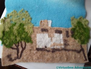 Dig House Needlefelted
