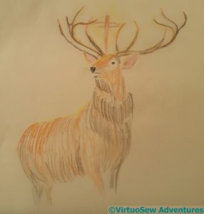 Based on the Stag from Landseer's The Monarch of the Glen
