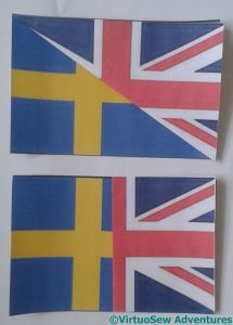 Trialling combinations of the Swedish and British flags