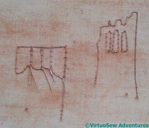 Wire outlining Slips of the Priory