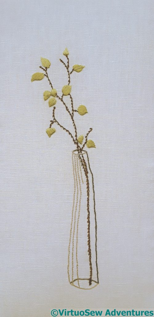 Embroidery based on the watercolour