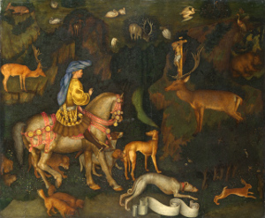 """Pisanello """"Vision of St. Eustace"""" in The National Gallery, London"""