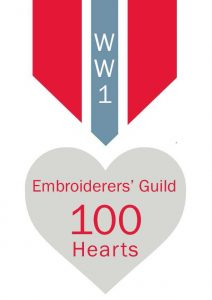 "Embroiderers Guild ""100 Hearts"" project"