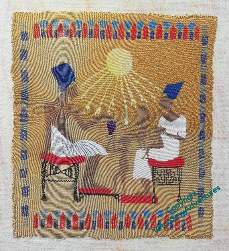Finished panel depicting the Amarna Family Group